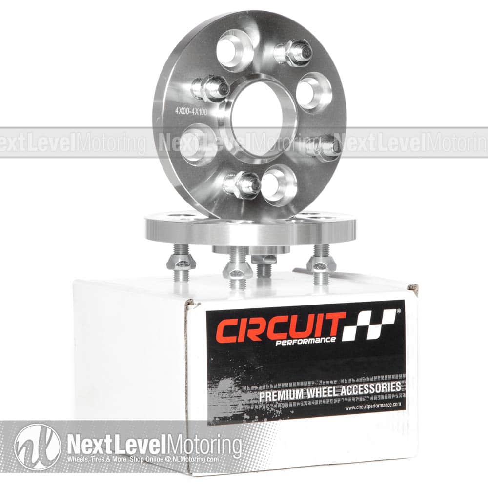 Wheel Slip On Spacers 15 mm 4x100 57.1 mm Hub Centric 2PCS