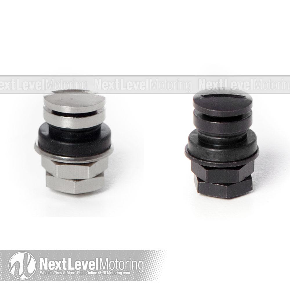 Set of 4 Circuit Performance Chrome Rubber Valve Stems TR414 38mm