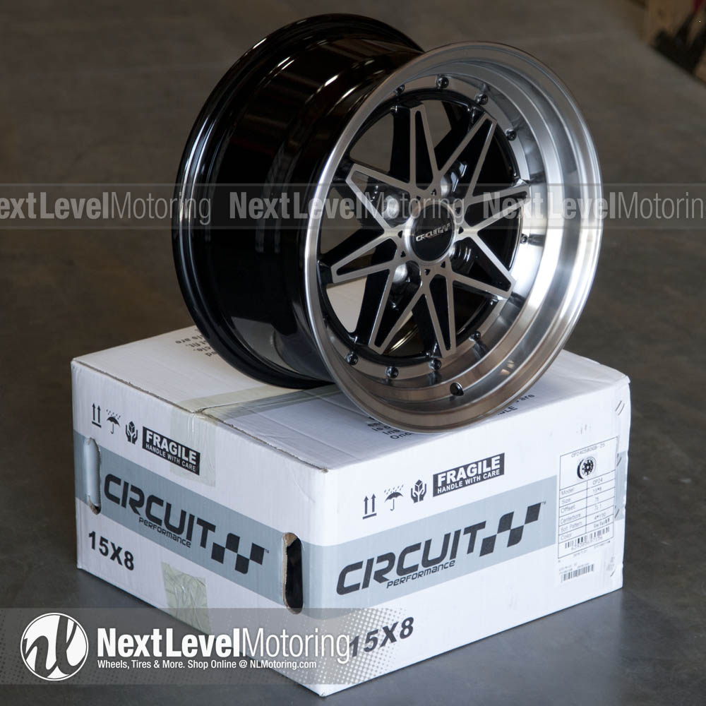 Circuit Performance Wheels: CP24 15x8 4x100 Gloss Black ...